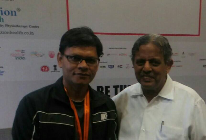 Dr. Ritesh with With Padmshree Dr HR Nagendra , Chancellor, SVYASA Banglore