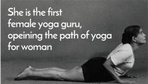 First Female Yoga Guru